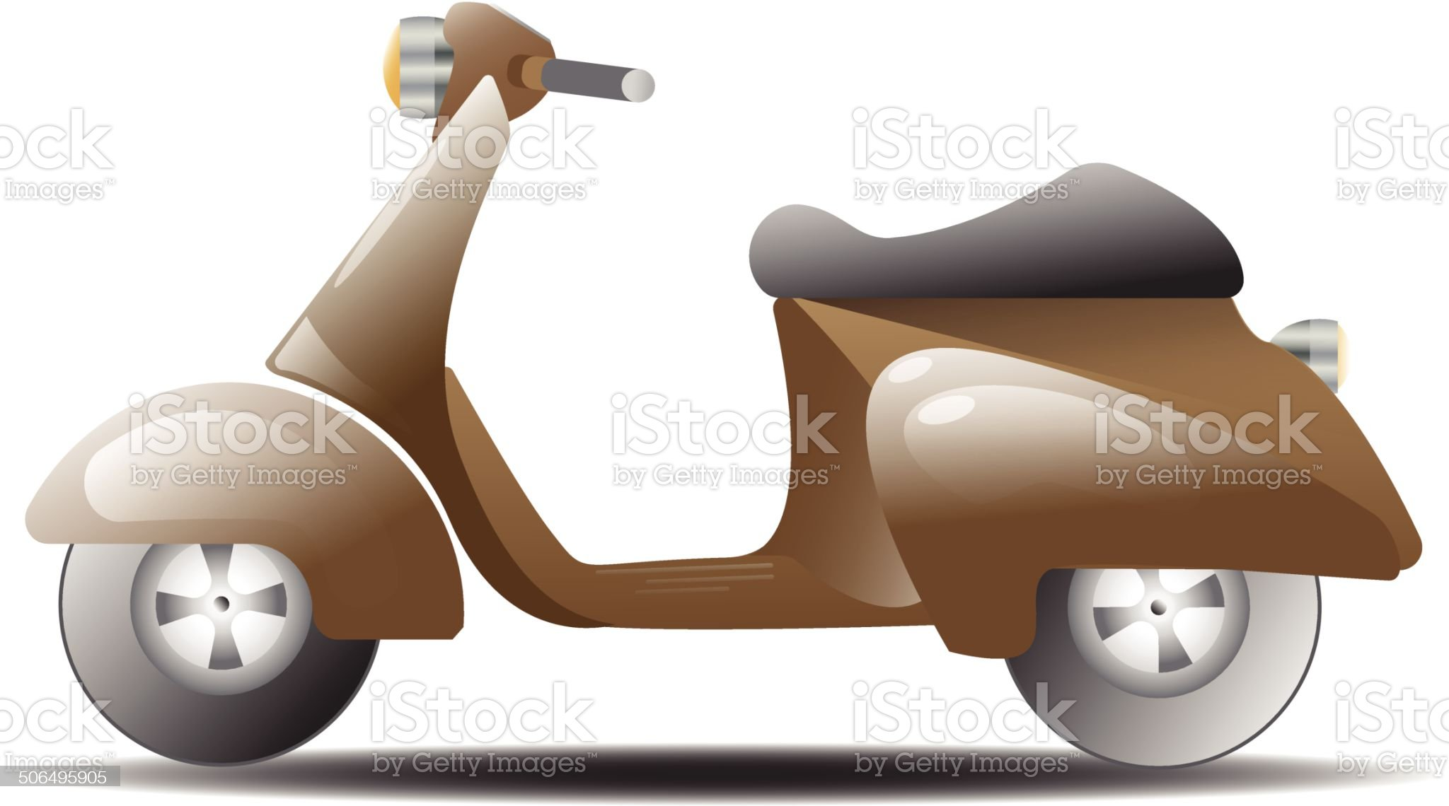 Vintage scooter vector royalty-free stock vector art