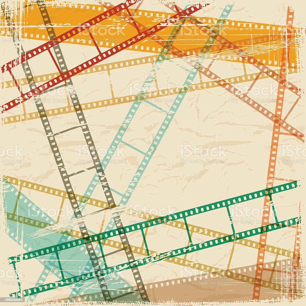 Vintage scratch background with film frame as a EPS10 vector vector art illustration