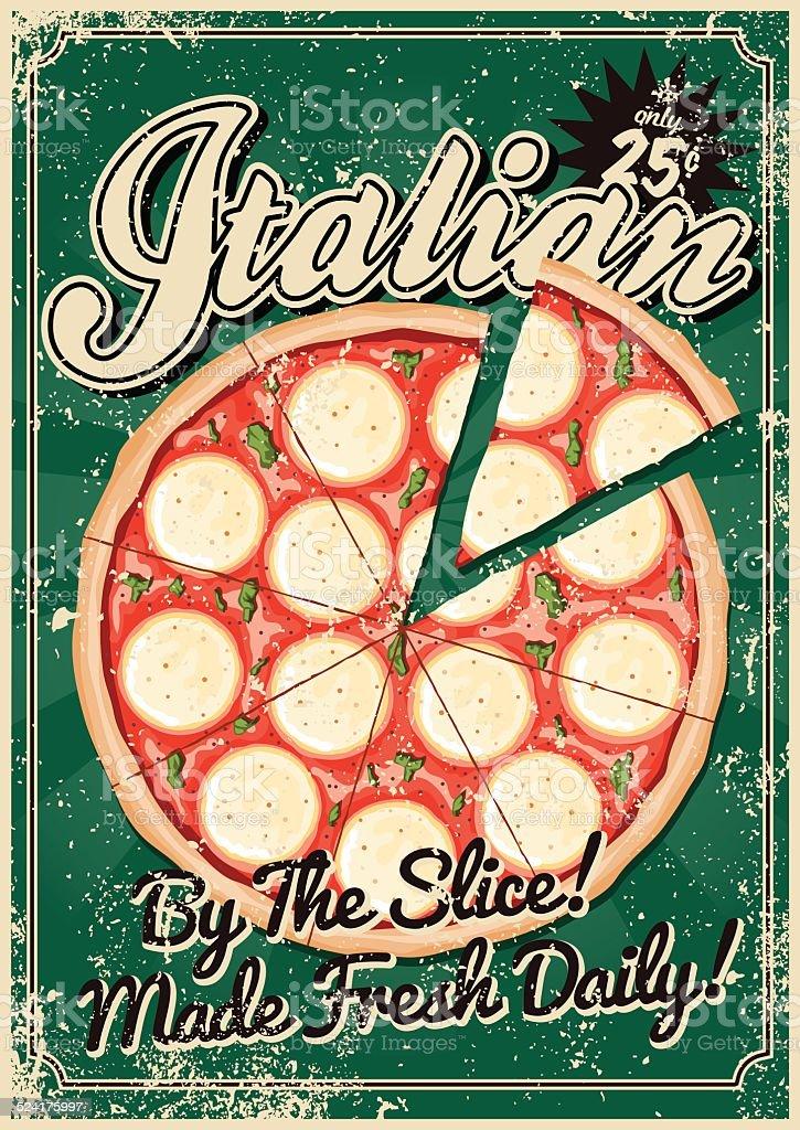 vintage serigrafati cucina italiana poster illustrazione royalty free