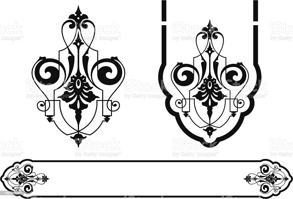 Vintage Scroll and Panel Design royalty-free stock vector art