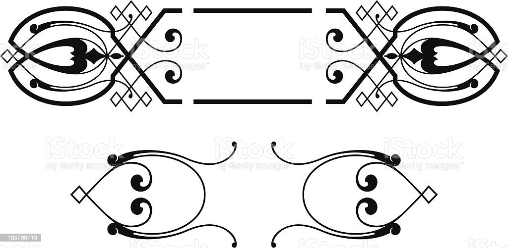 Vintage Scroll and Panel Designs royalty-free stock vector art