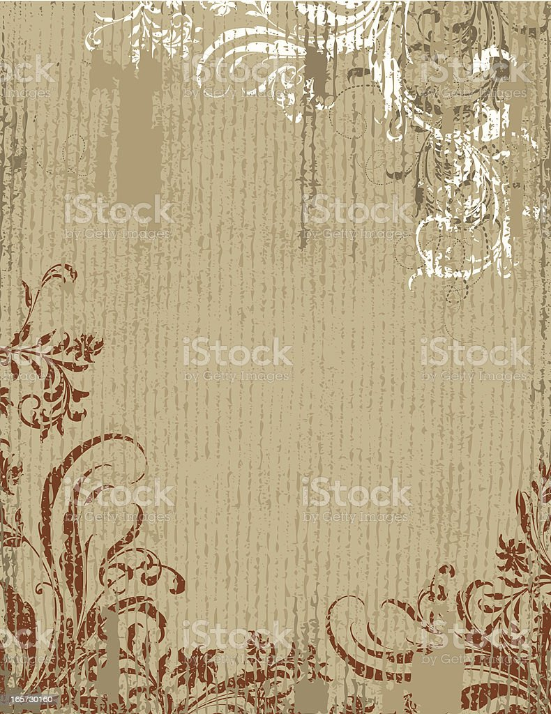 Vintage Scroll Background royalty-free stock vector art