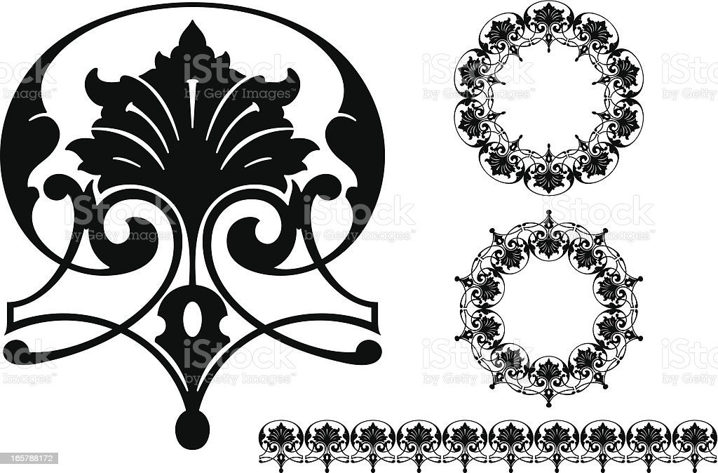 Vintage Scroll Design royalty-free stock vector art