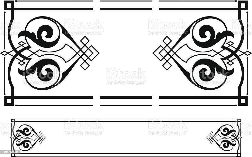 Vintage Scroll Panel Design royalty-free stock vector art