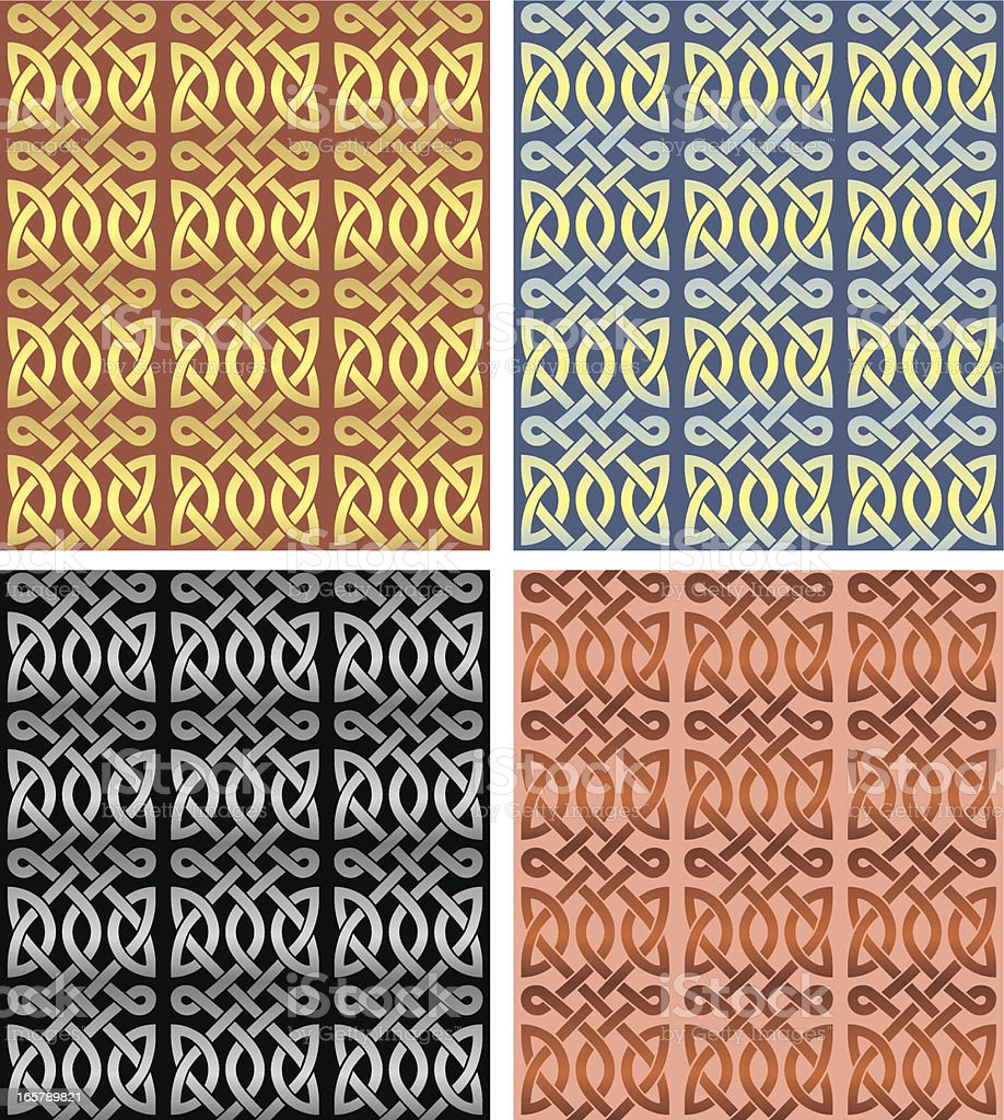Vintage Seamless Celtic Pattern Set royalty-free stock vector art