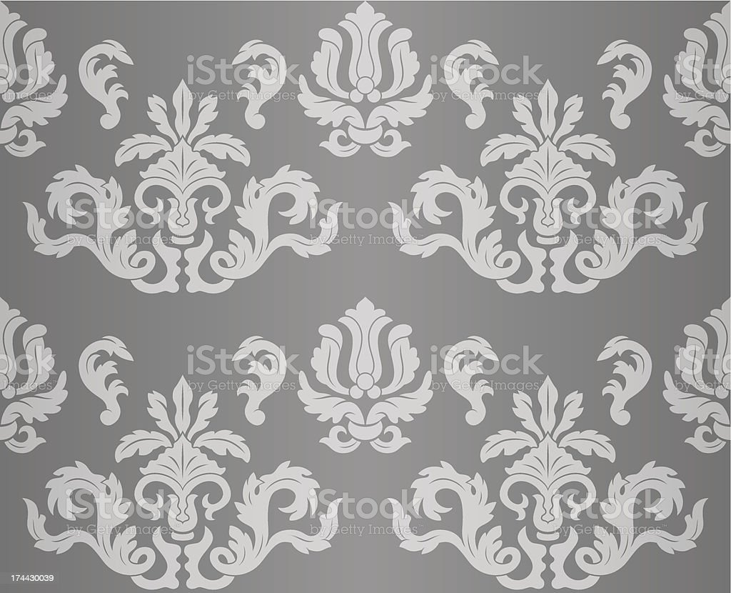 Vintage seamless floral background royalty-free stock vector art