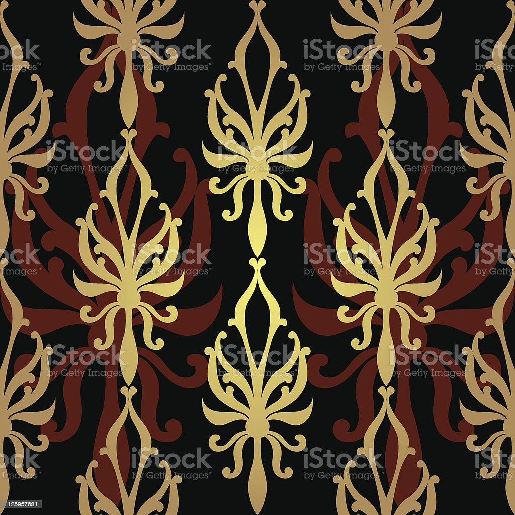 Vintage seamless pattern векторная иллюстрация