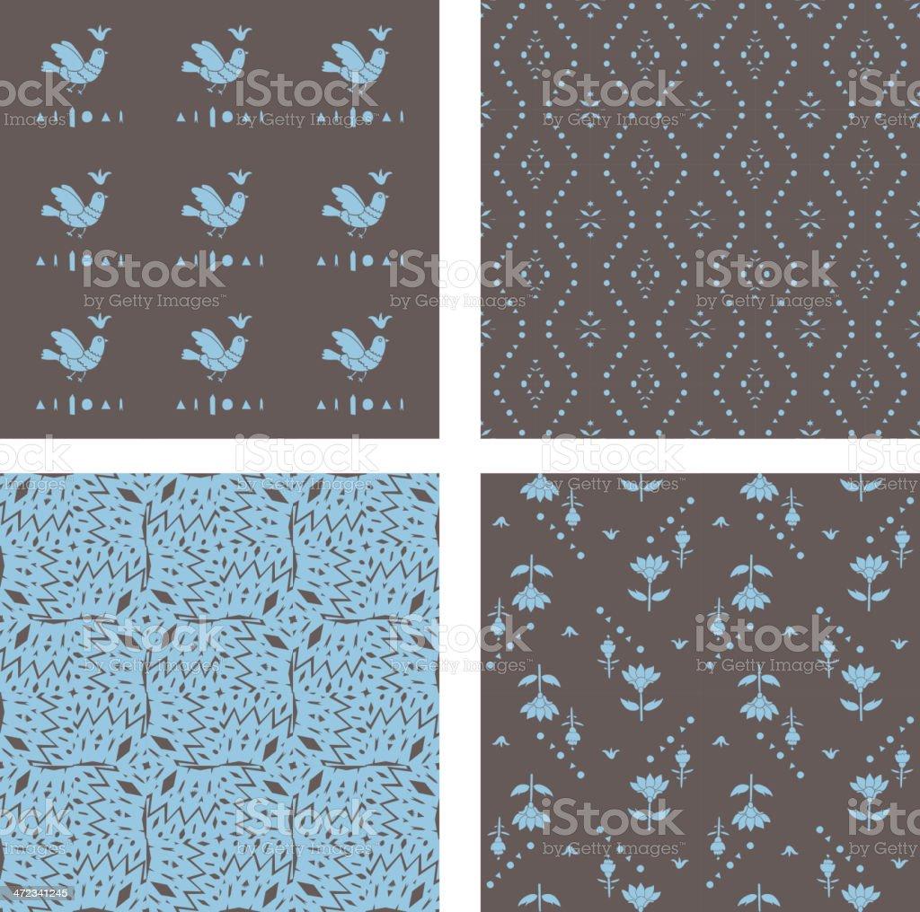 Vintage seamless pattern royalty-free stock vector art