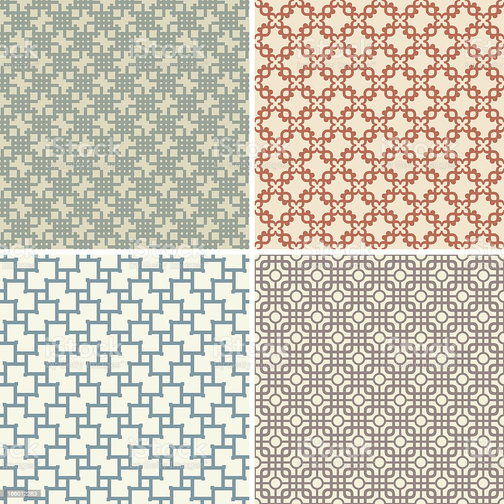 Vintage Seamless Patterns royalty-free stock vector art