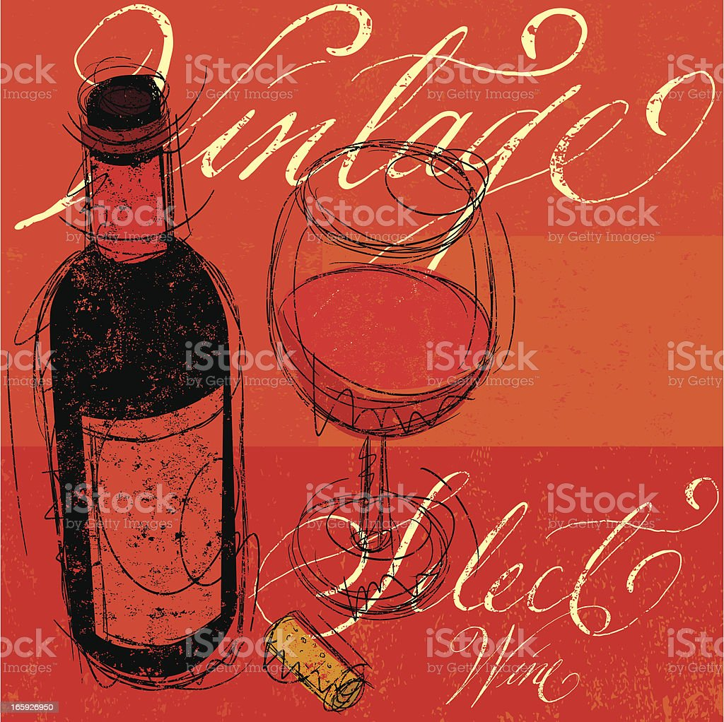 Vintage Select Wine royalty-free stock vector art