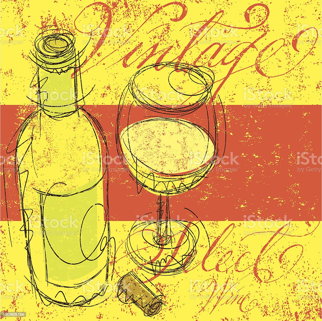 Vintage Select Wine vector art illustration