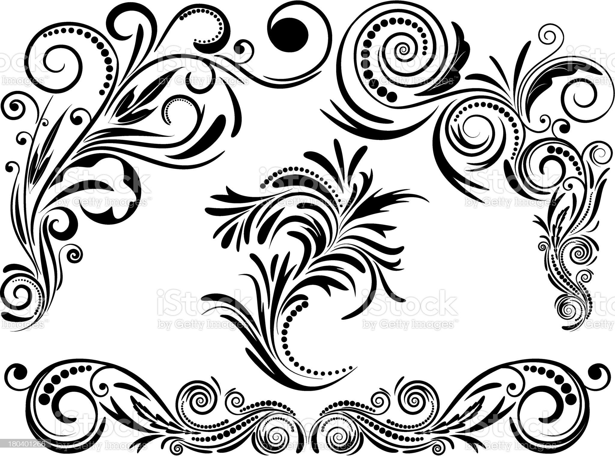 Vintage set calligraphic elements. royalty-free stock vector art