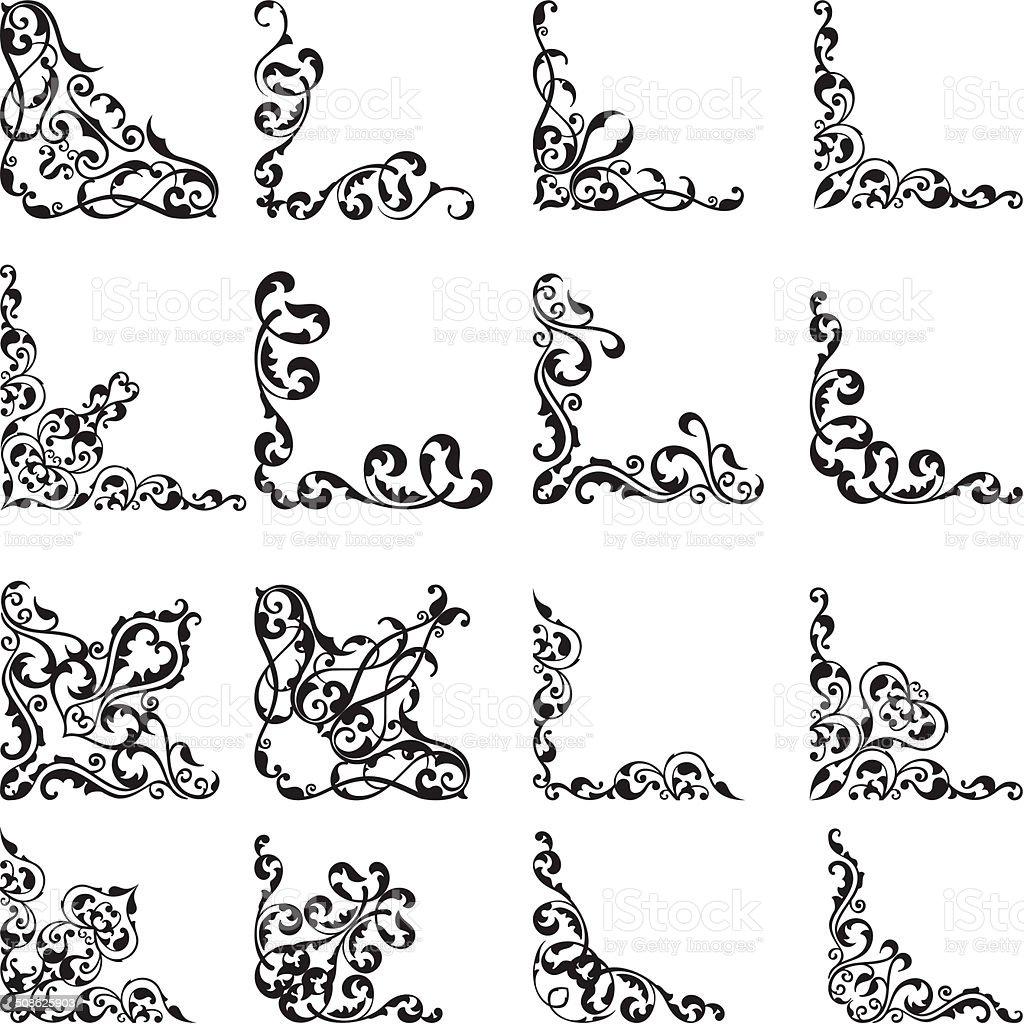 Vintage setVintage set vector art illustration