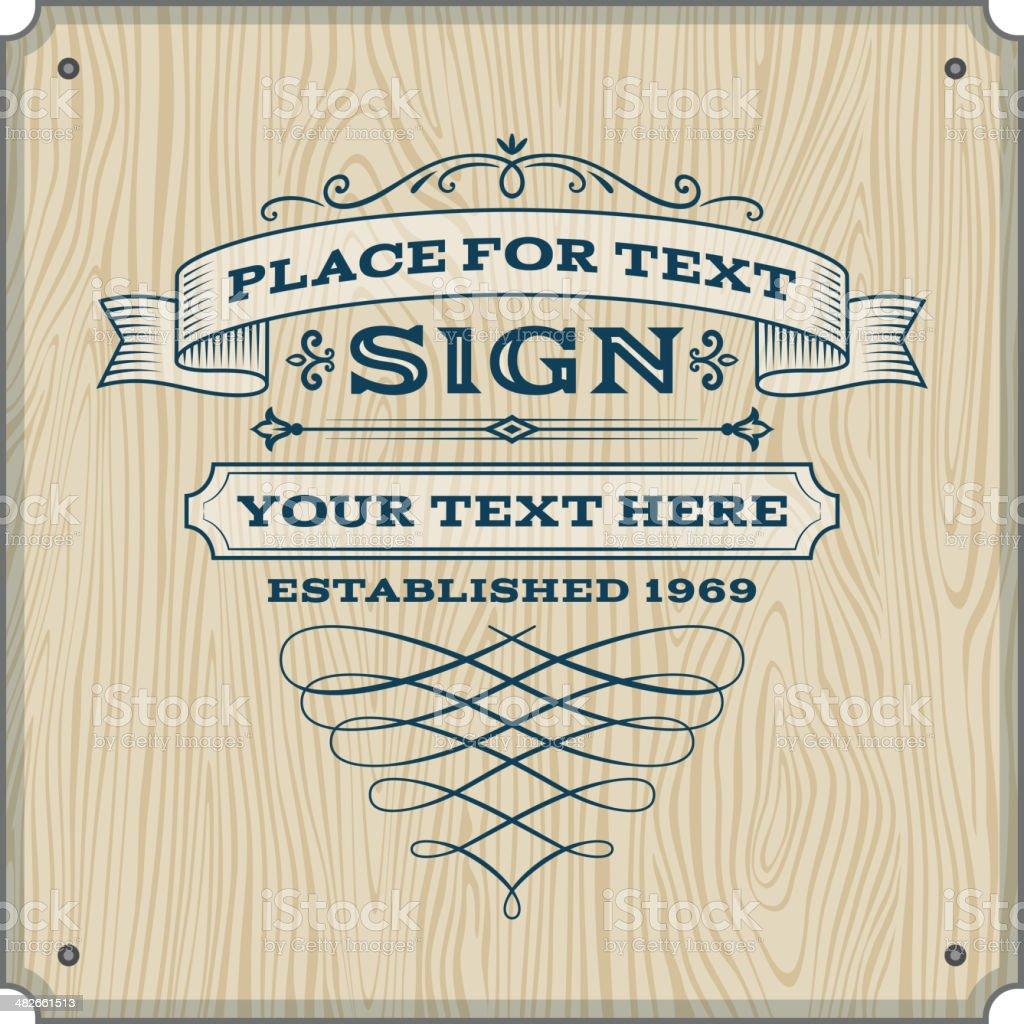 Vintage Sign vector art illustration