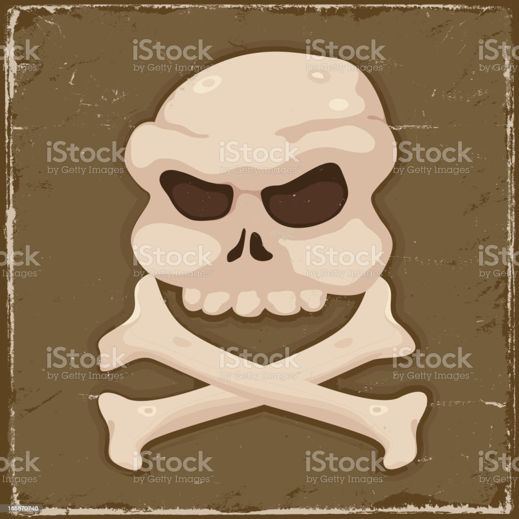 Vintage Skull And  Cross Bones royalty-free stock vector art