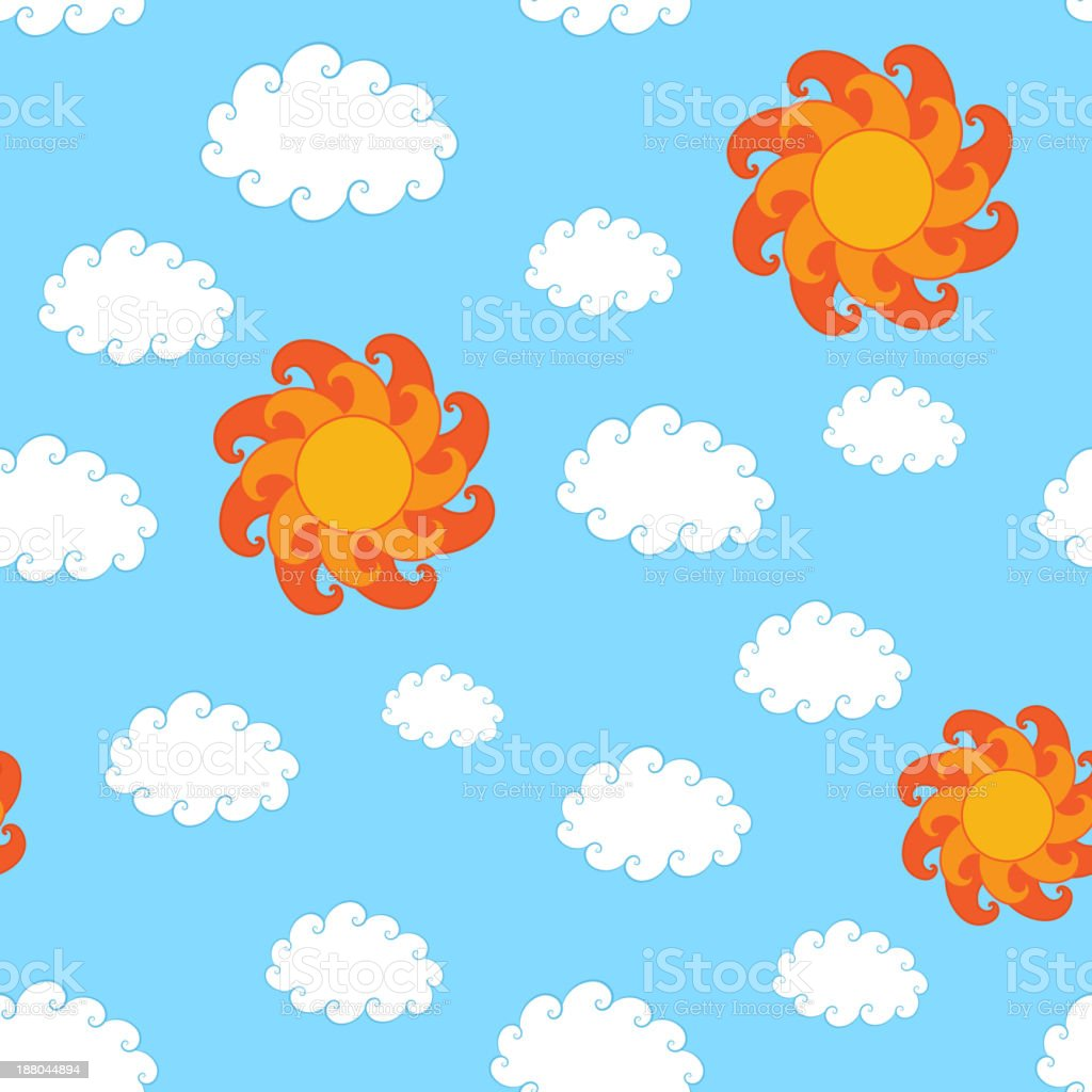 Vintage Sky Seamless Pattern royalty-free stock vector art