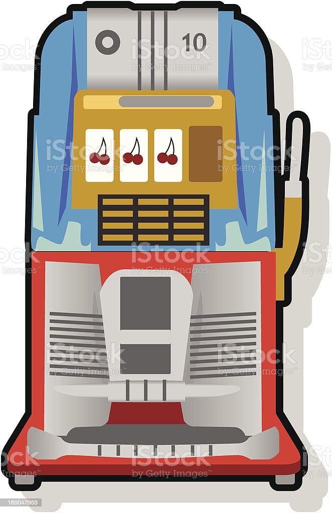 Vintage Slot Machine royalty-free stock vector art