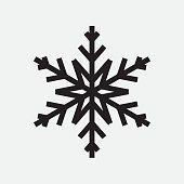 Vintage snowflake black icon