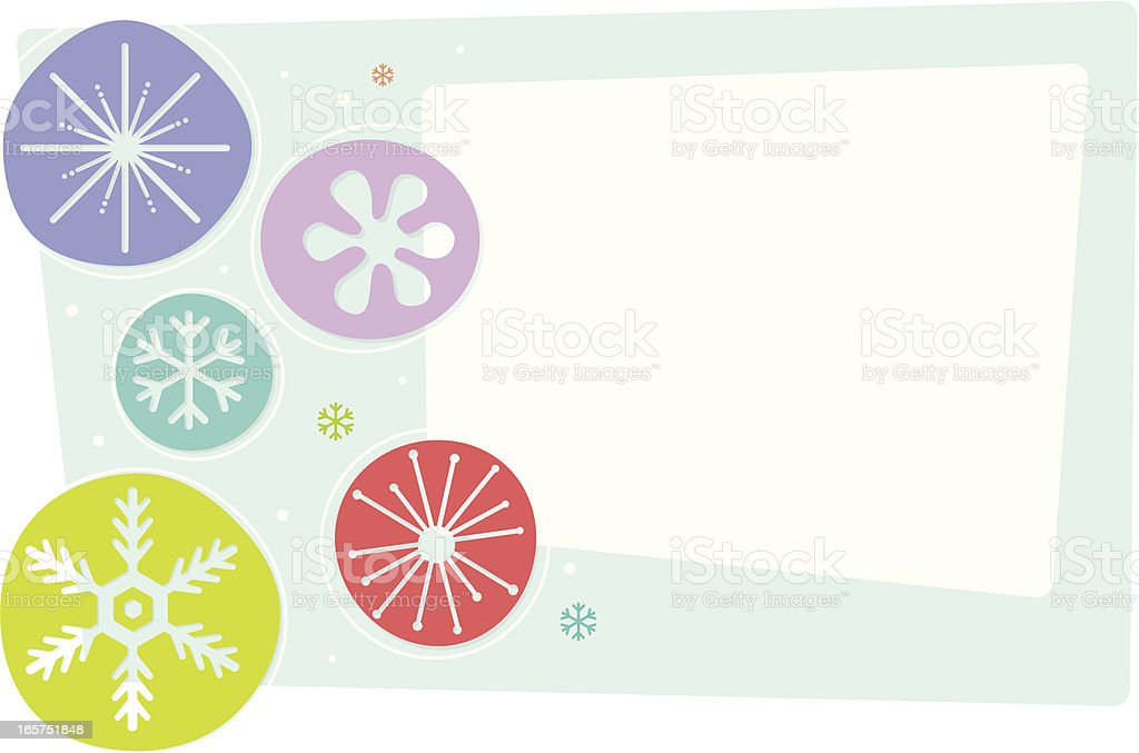 Vintage Snowflake Cutouts royalty-free stock vector art