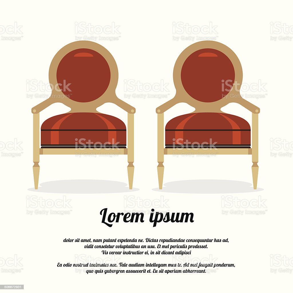 Vintage Sofa Vector Illustration vector art illustration