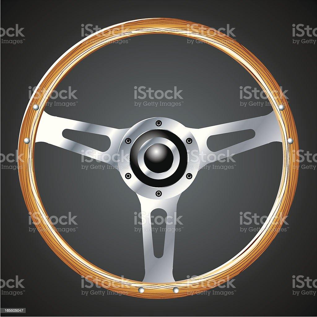 Vintage steering wheel royalty-free stock vector art