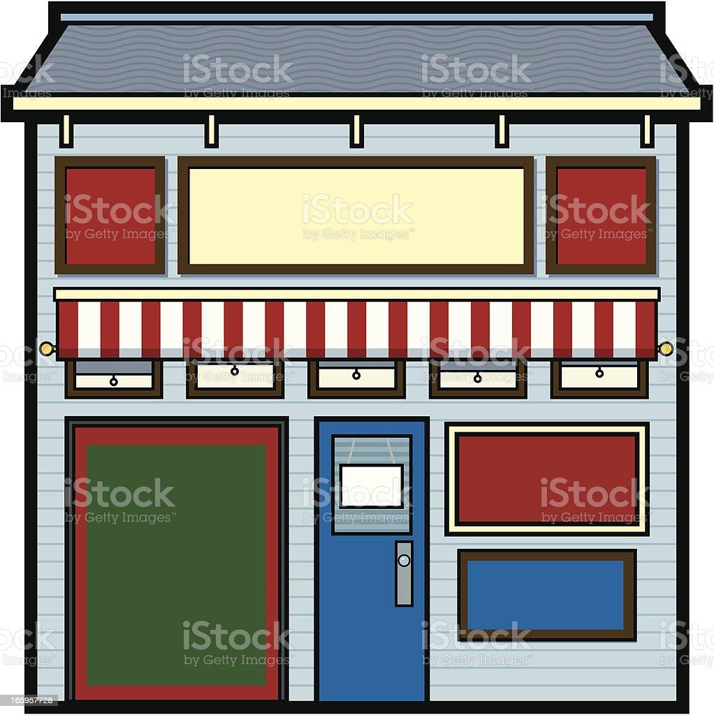 Vintage Storefront vector art illustration