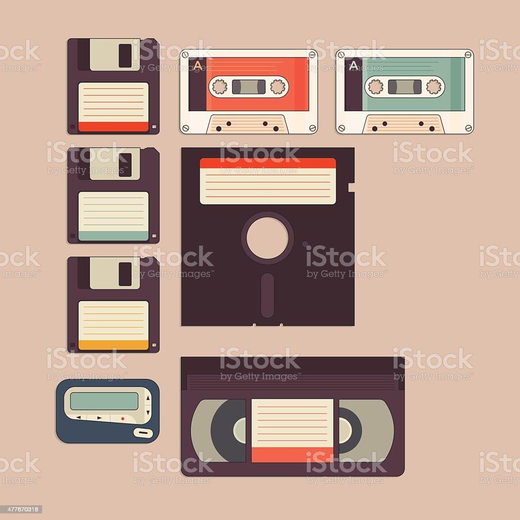 Vintage Stuff Icon vector art illustration