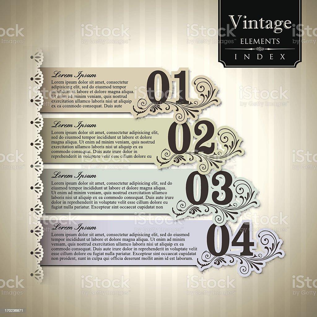 Vintage style Bar Graph. royalty-free stock vector art