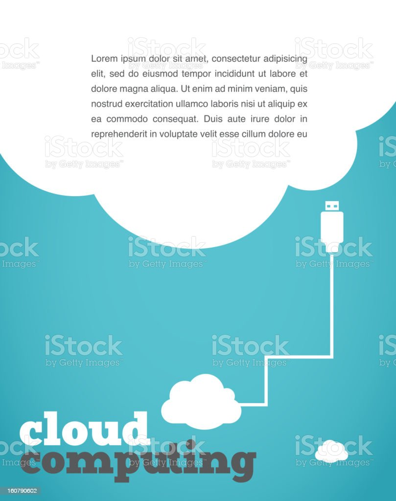 vintage style cloud computing poster royalty-free stock vector art