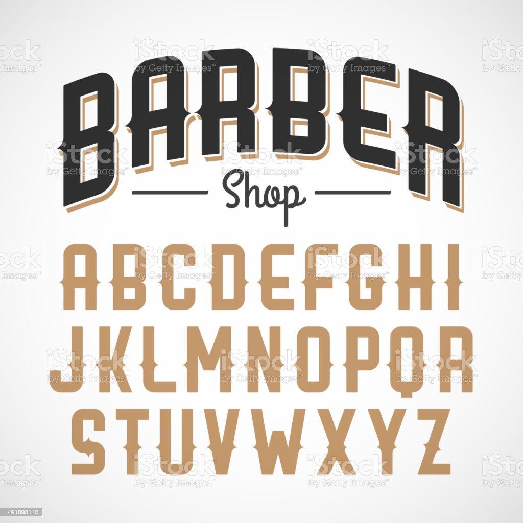 Vintage style font vector art illustration