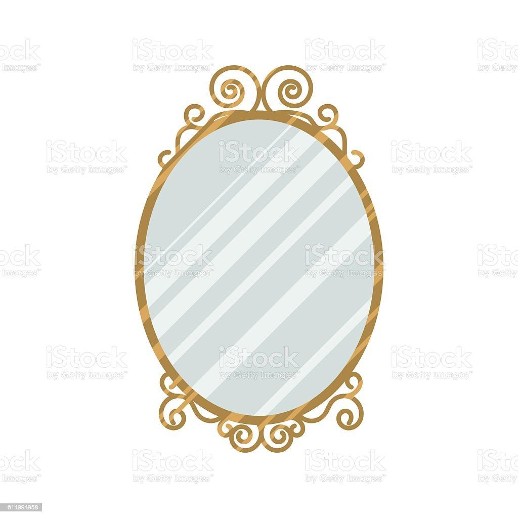 Vintage style mirror vector illustration. vector art illustration