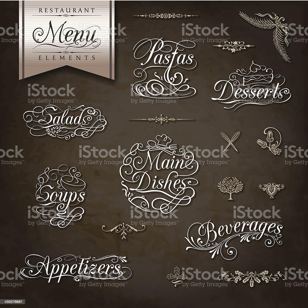 Vintage style restaurant menu designs vector art illustration
