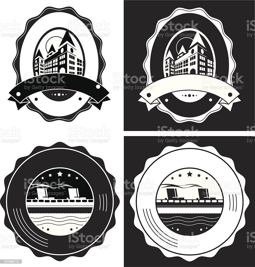 Vintage Style Vector Labels Collection royalty-free stock vector art