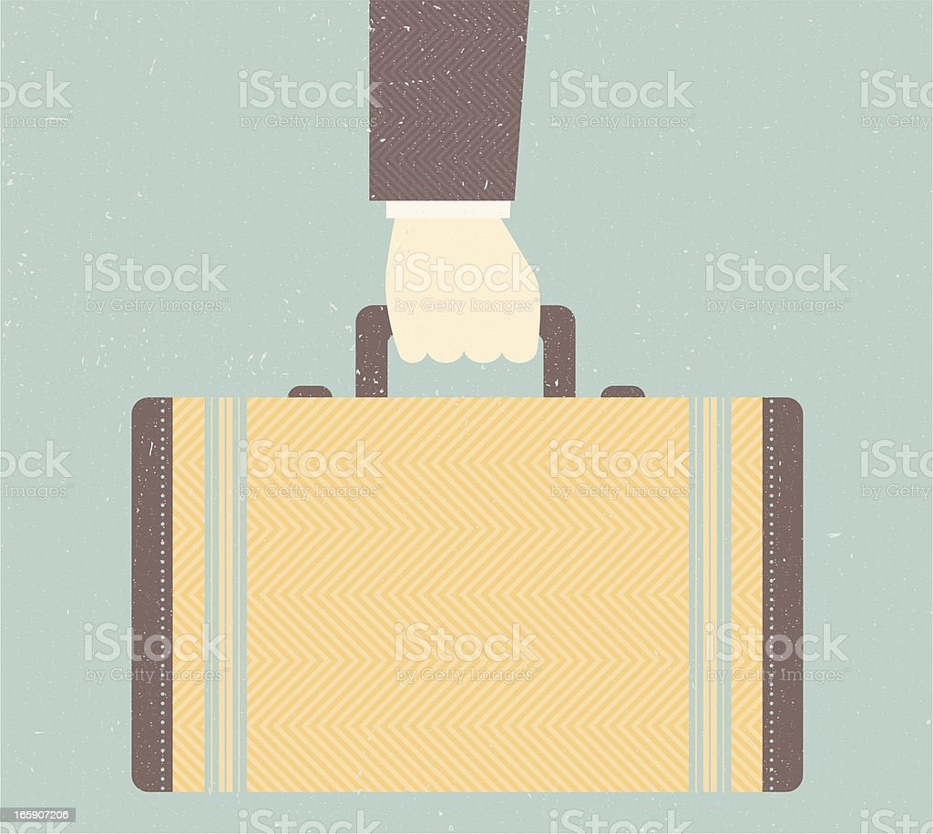 Vintage Suitcase or Briefcase royalty-free stock vector art