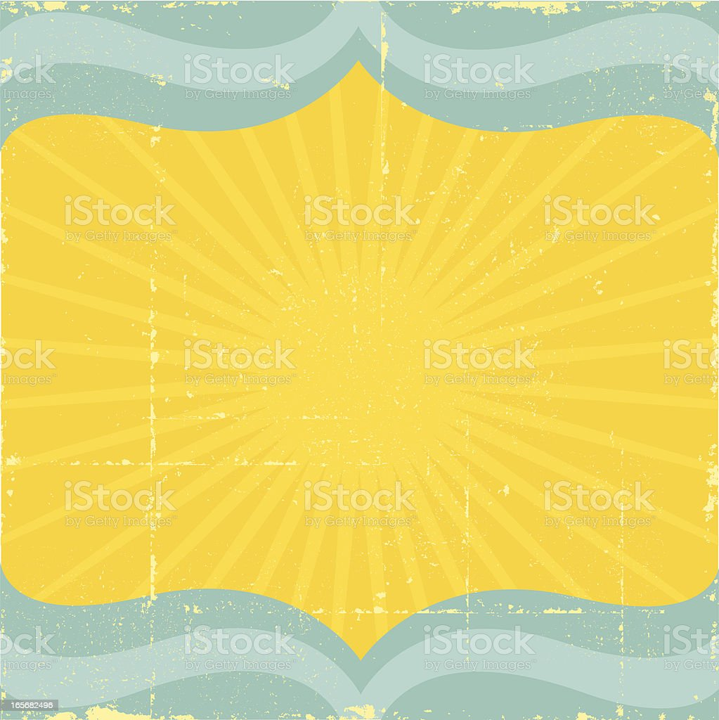 Vintage Sun and Sea Background royalty-free stock vector art