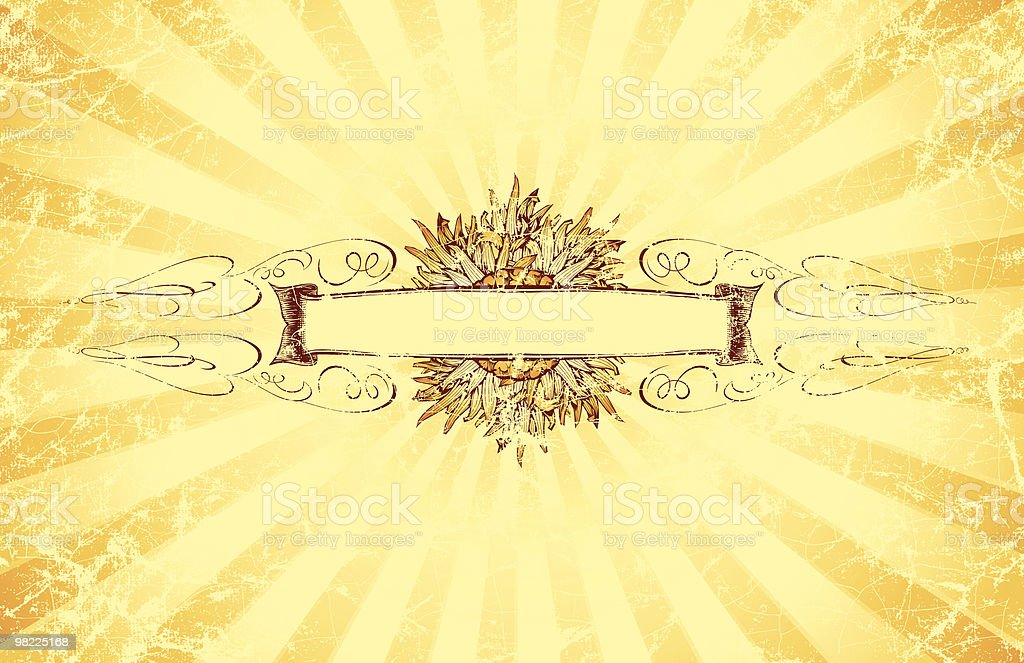 Vintage Sun Banner royalty-free stock vector art