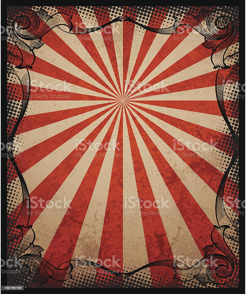 Vintage Sunbeam Background and Frame royalty-free stock vector art