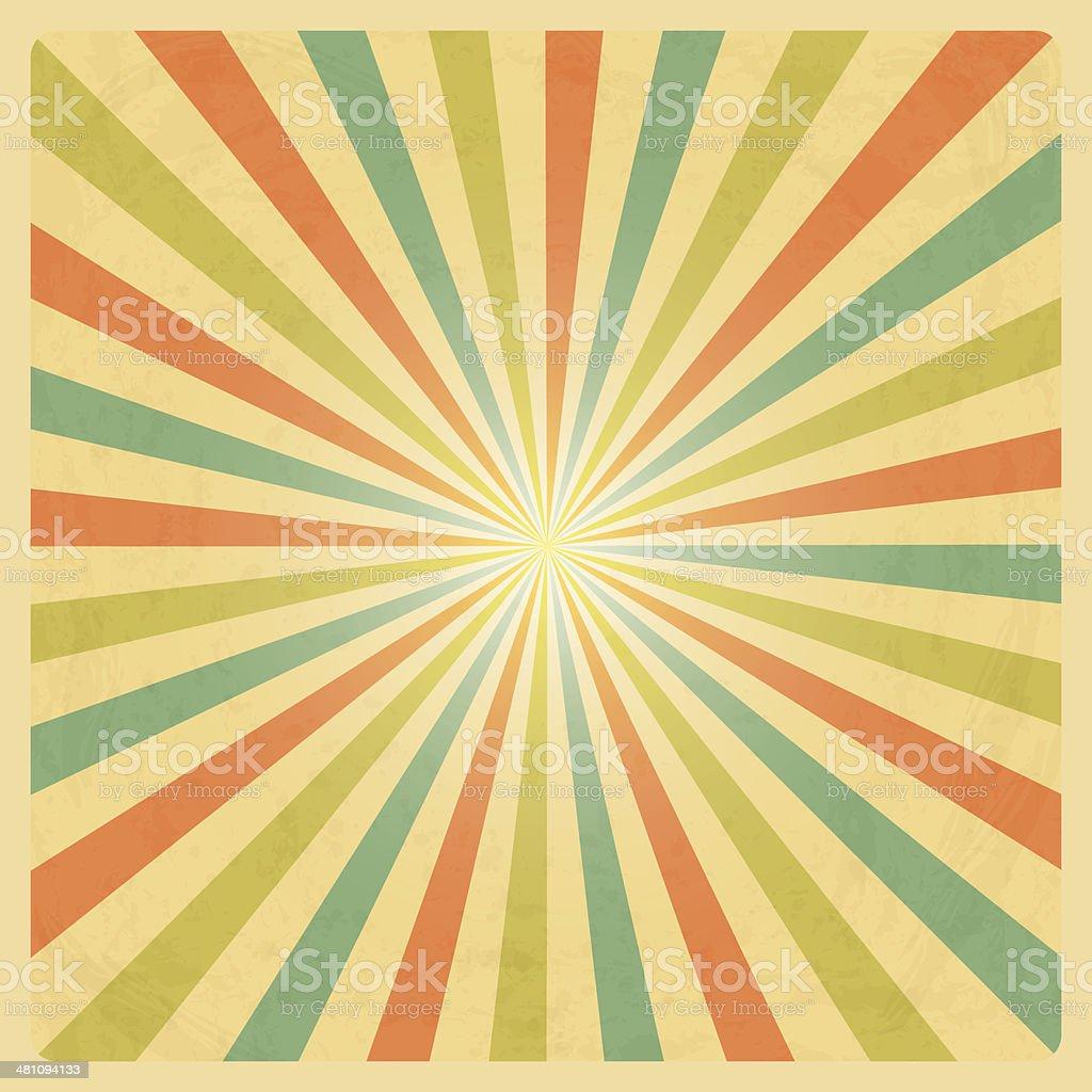 Vintage Sunburst Background vector art illustration