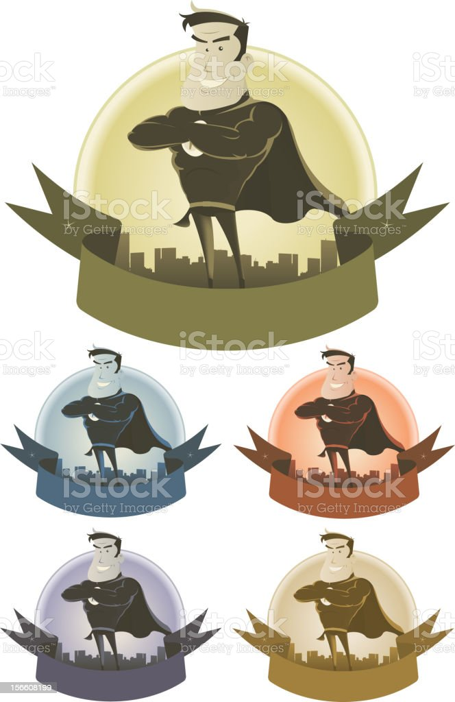 Vintage Superhero Security Banner royalty-free stock vector art