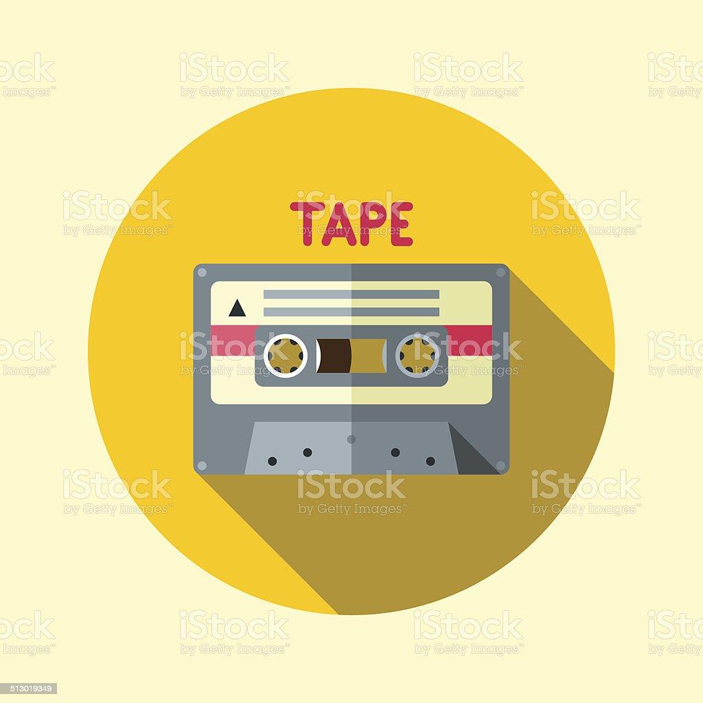 Vintage tape cassette. Hipster icons series. vector art illustration