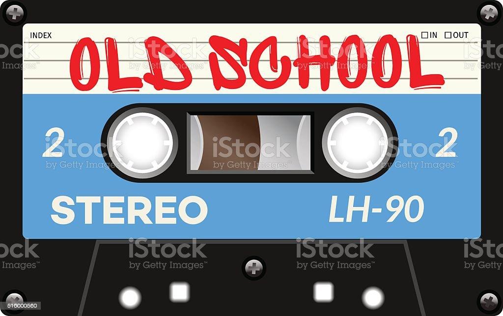 Vintage tape cassette with name on it vector art illustration