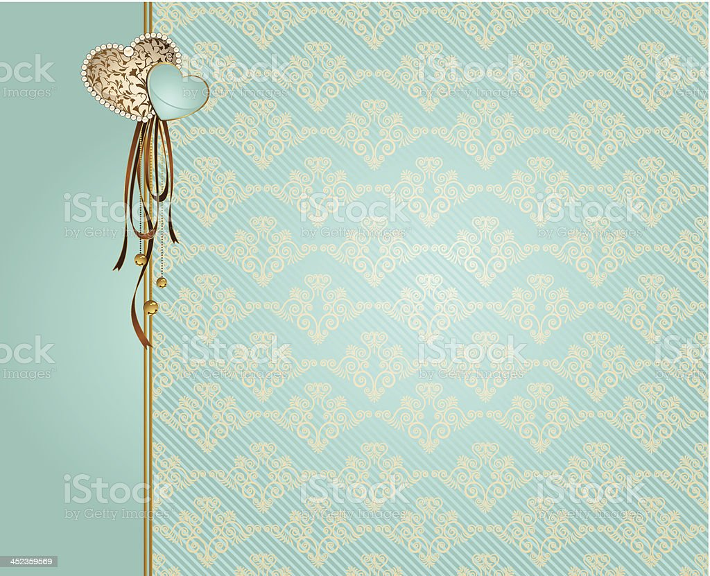 Vintage tapestry background. Vector for Valentine's Day royalty-free stock vector art