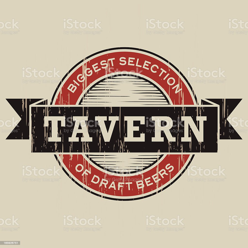 Vintage Tavern Label royalty-free stock vector art