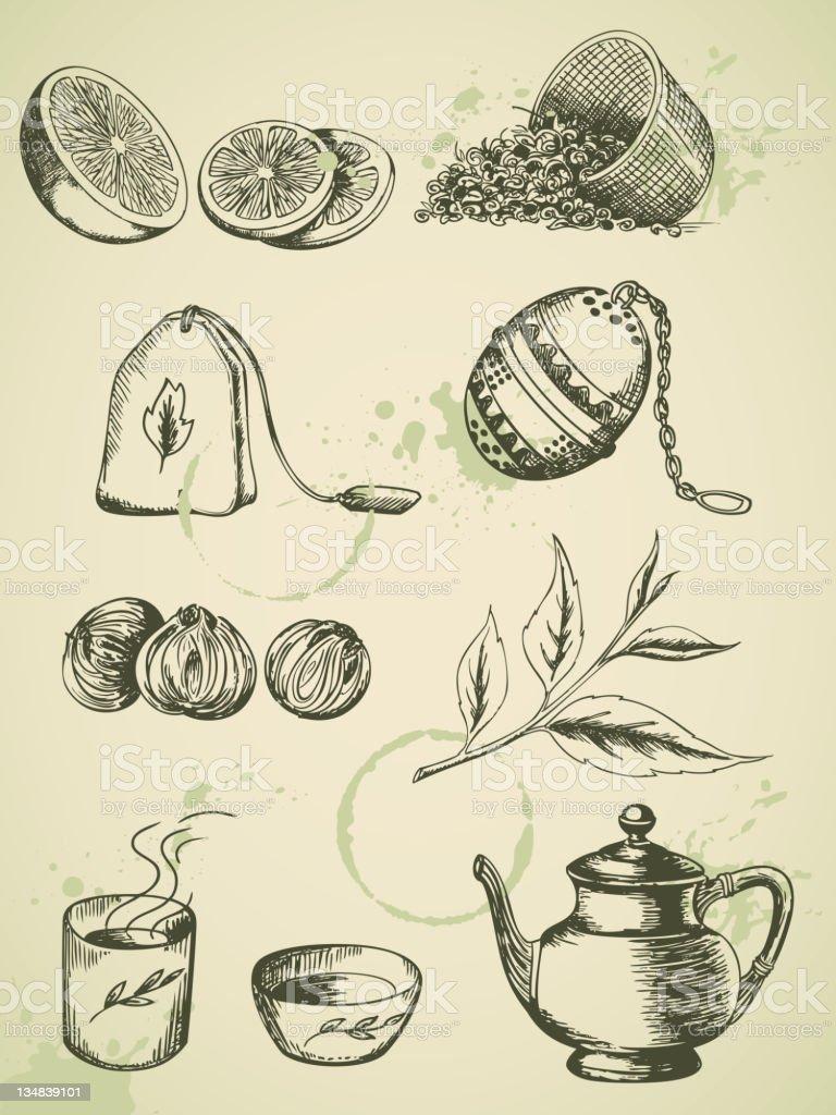 vintage tea royalty-free stock photo