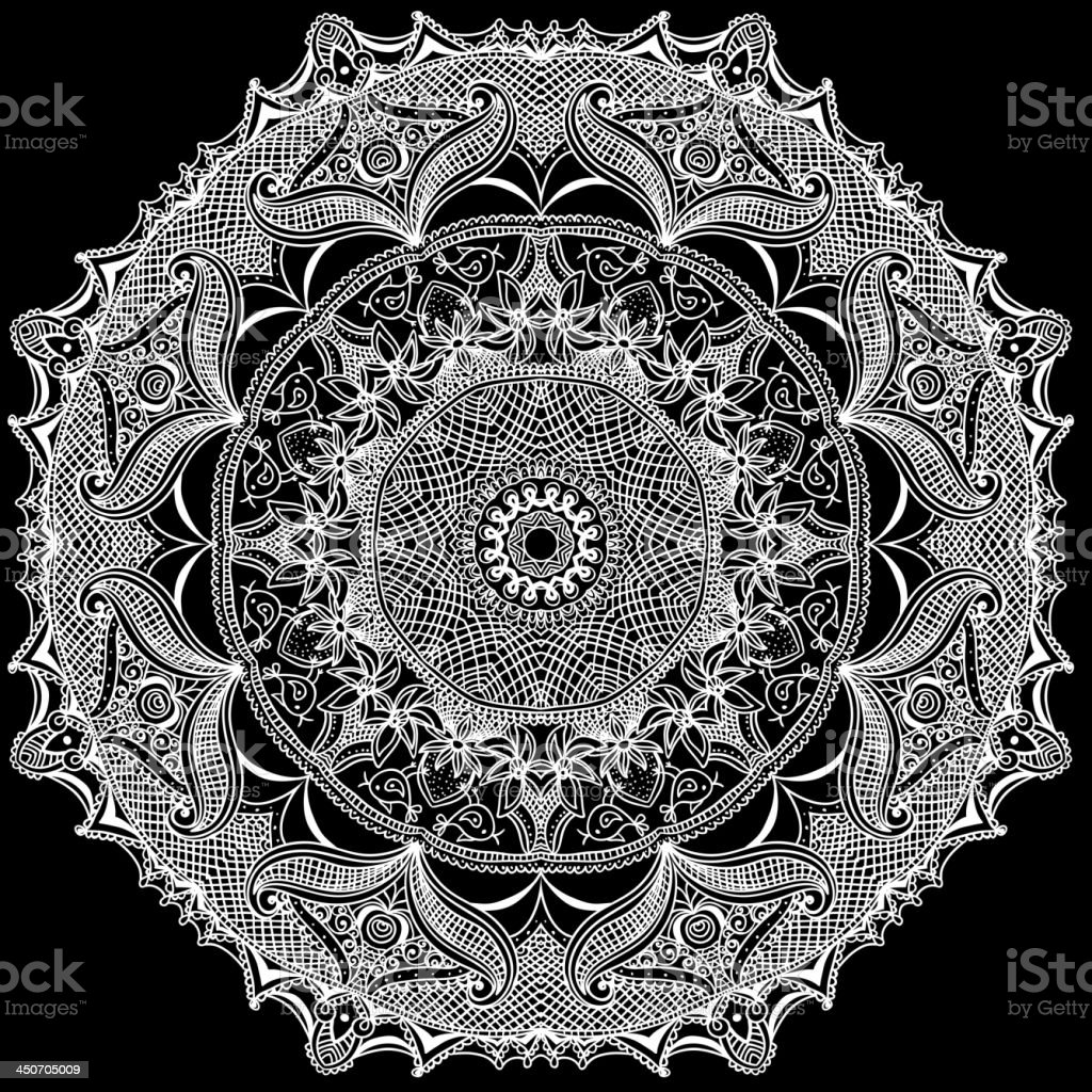 Vintage template Oriental circle background royalty-free stock vector art