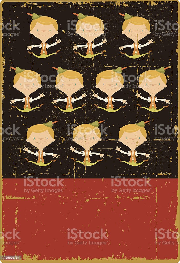 Vintage Ten Lords a Leaping royalty-free stock vector art