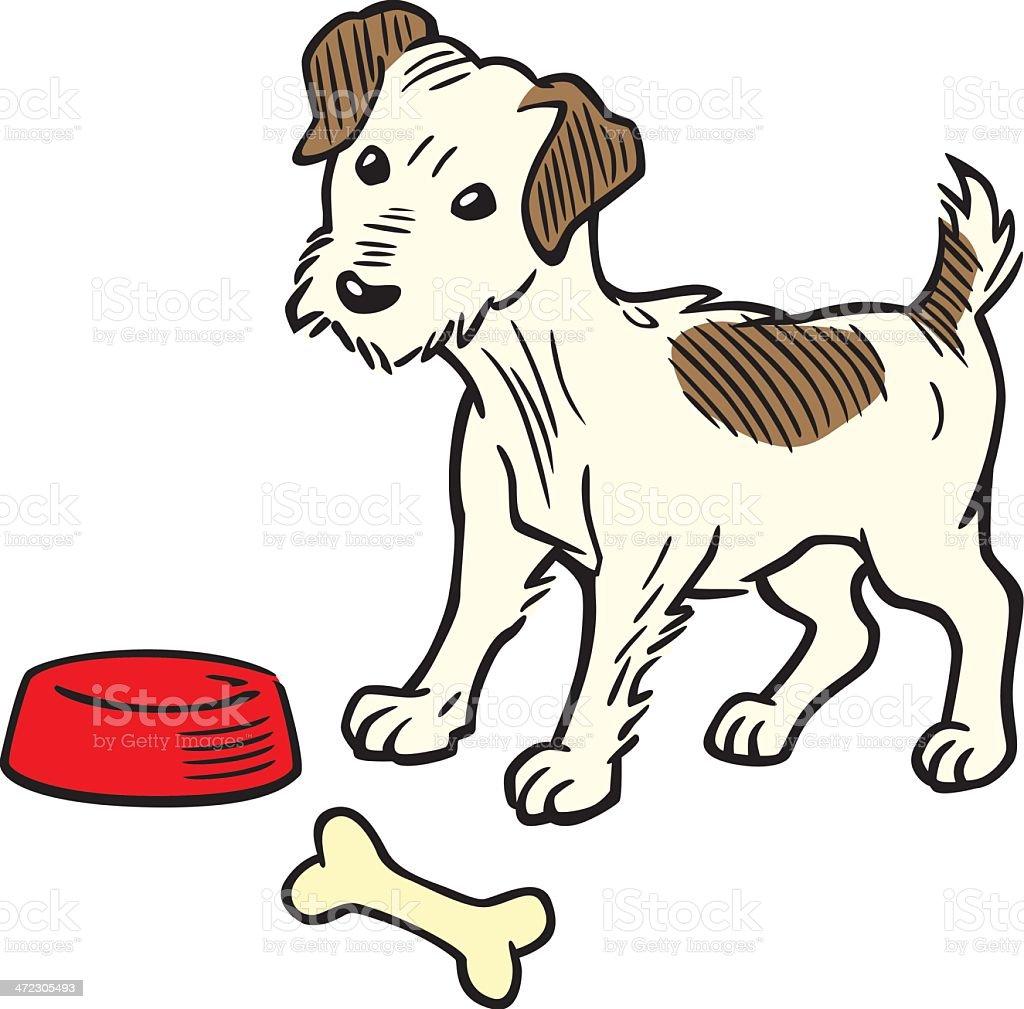 Vintage Terrier Dog royalty-free stock vector art