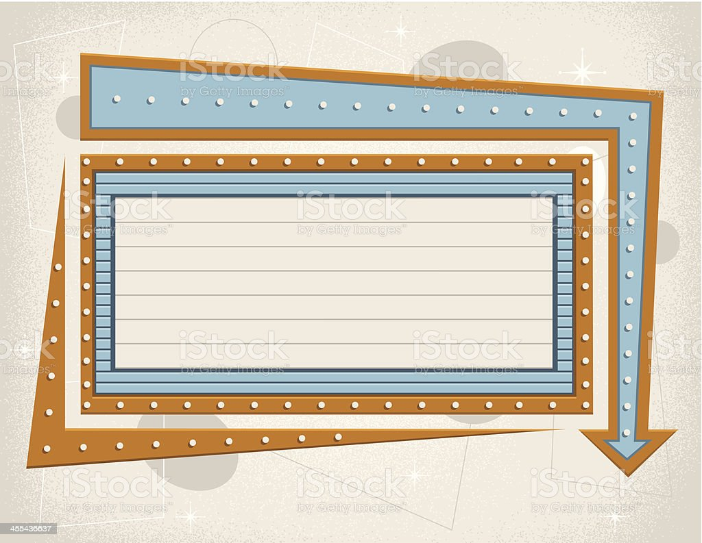 Vintage Theater Sign vector art illustration