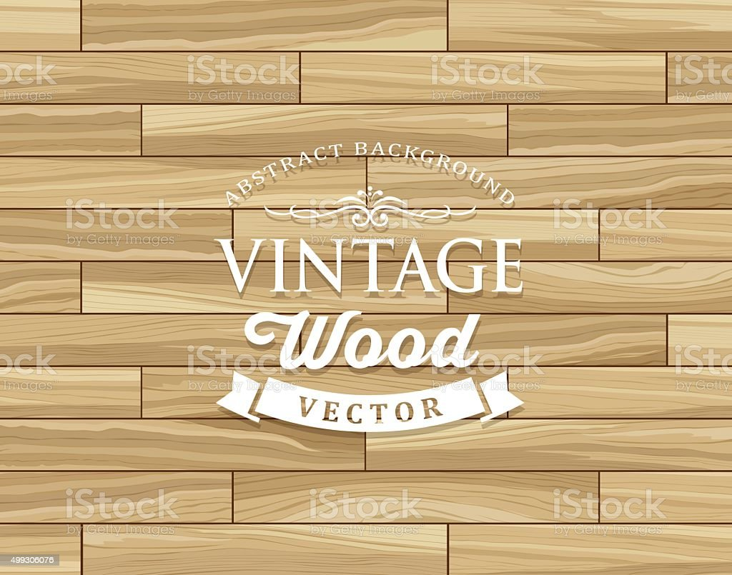 Vintage Tiles wood floor striped design vector art illustration