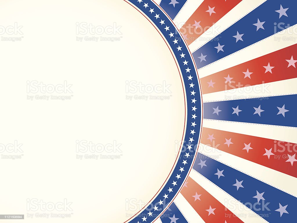 Vintage Toned Red White Blue with Stars vector art illustration
